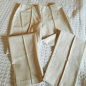 Chicos tan pants with front seam